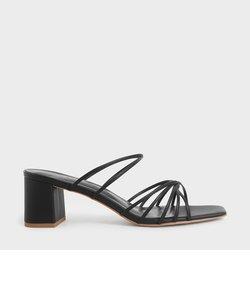 【2020 SPRING 新作】ストラッピー スクエアトゥサンダル / Strappy Square Toe Sandals