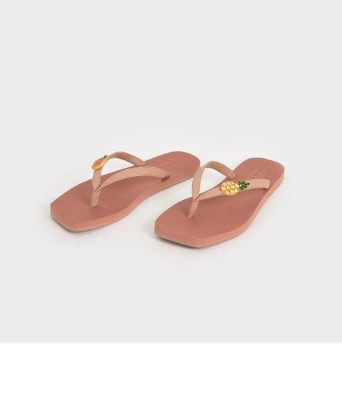 エンベリッシュド トングサンダル / Embellished Thong Sandals
