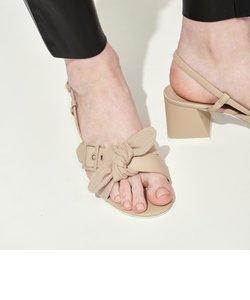 【2020 SUMMER】プリンテッドファブリック ボウタイスリングバック / Printed Fabric Bow Tie Slingbacks