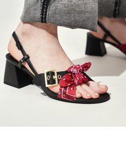 プリンテッドファブリック ボウタイスリングバック / Printed Fabric Bow Tie Slingbacks
