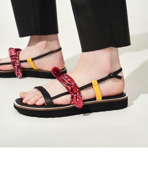ファブリック ボウタイフラットフォーム / Fabric Bow Tie Flatforms