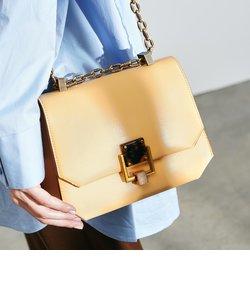 チェーンハンドル ジオメトリッククロスボディバッグ / Chain Handle Geometric Crossbody Bag