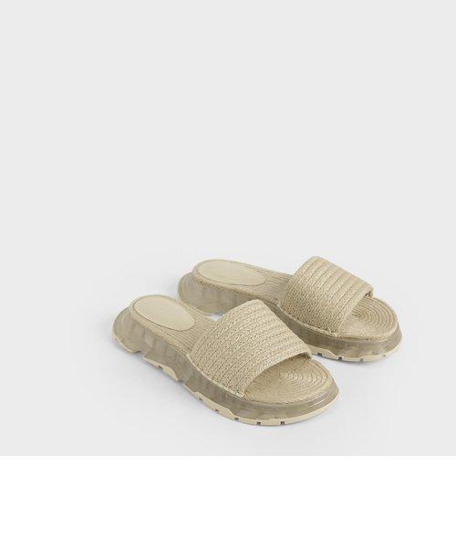 エスパドリーユ フラットフォームサンダル / Espadrille Flatform Sandals