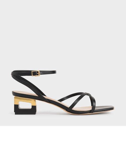 スカルプチャー クロームヒールサンダル / Sculptural Chrome Heel Sandals