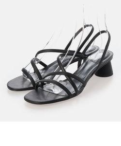 ストラッピー シリンドリカルヒールサンダル / Strappy Cylindrical Heel Sandals