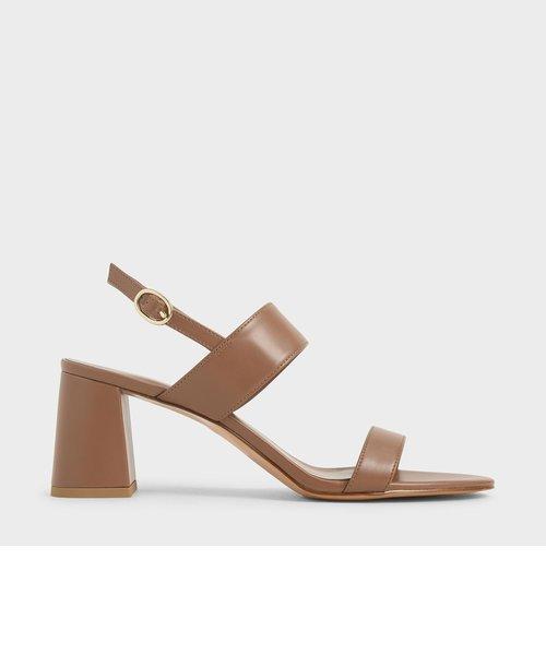スリングバックヒール サンダル / Slingback Heeled Sandals