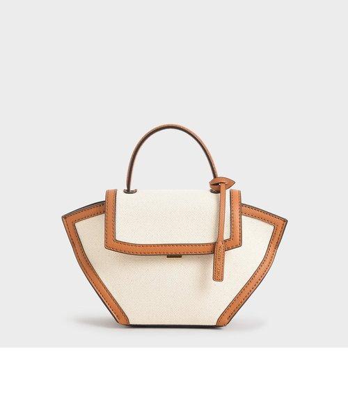 キャンバストラペーズ トップハンドルバッグ / Canvas Trapeze Top Handle Bag