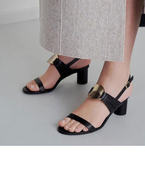 メタリックアクセント ヒールドサンダル / Metallic Accent Heeled Sandals