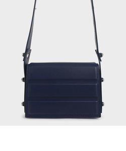 アイレットエンベリッシュド トップハンドルバッグ / Eyelet-Embellished Top Handle Bag