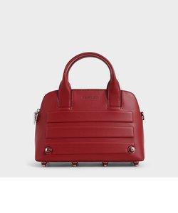 エンベリッシュドアイレット トップハンドルバッグ / Embellished-Eyelet Top Handle Bag