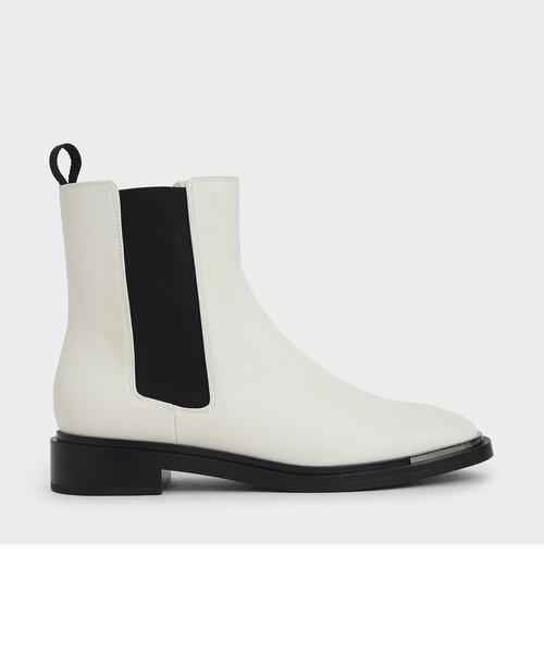 メタルアクセント チェルシーブーツ / Metal Accent Chelsea Boots