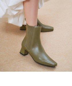 【2020 WINTER 新作】ステッチトリム アンクルブーツ / Stitch-Trim Ankle Boots