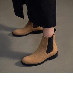 テクスチャードラウンドトゥ チェルシーブーツ / Textured Round Toe Chelsea Boots