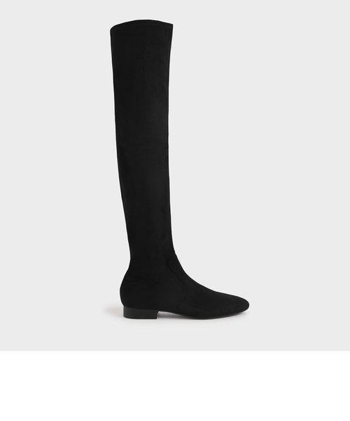 【2020 WINTER】テクスチャード サイハイブーツ / Textured Thigh High Boots