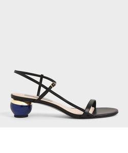 【2021 SPRING】スカルプチャーヒール アンクルストラップサンダル / Sculptural Heel Ankle Strap Sandals