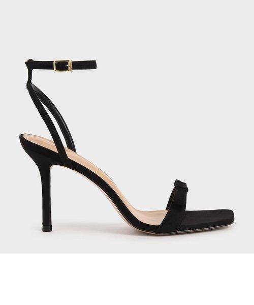【2021 SPRING】ボウアンクルストラップ サンダル / Bow Ankle Strap Sandals