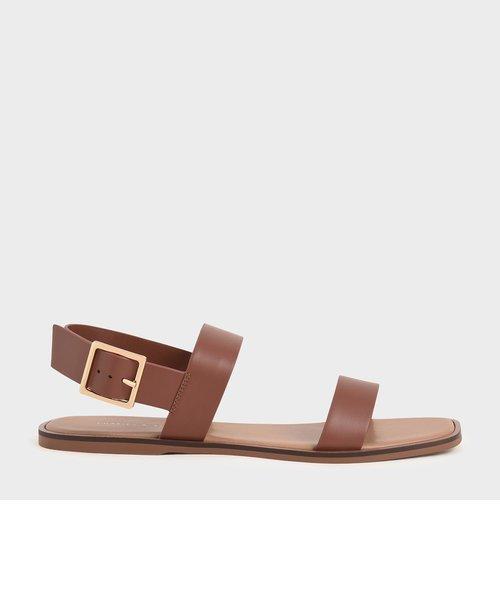 【2021 SPRING】バックルアンクルストラップ フラットサンダル / Buckle Ankle Strap Flat Sandals