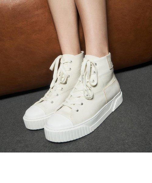 【2021 SPRING】ウーブンファブリック ハイトップスニーカー / Woven Fabric High Top Sneakers