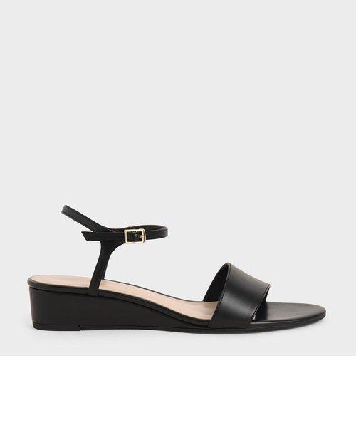 【2021 SPRING】アシンメトリック ウェッジサンダル / Asymmetric Wedge Sandals