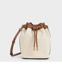 キャンバス ドロウストリングバケツバッグ / Canvas Drawstring Bucket Bag