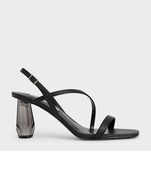 【2021 SUMMER 新作】シースルー スカルプチャーヒールサンダル / See-Through Sculptural Heel Sandals