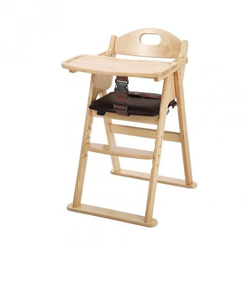 木製ワイドハイチェア ステップ切り替え(ナチュラル)