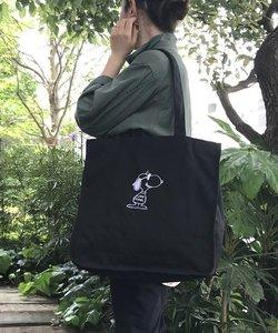 404904 ルートート(ROOTOTE)/ RT SN.グランデ キャンバス刺繍 ピーナッツ-4N(04:ジョー・クール ブラック)