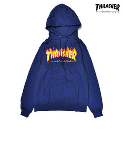 【THRASHER】FLAME LOGO HOODIE(navy)