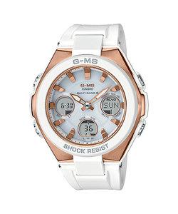 ベビーG ジーミズ 腕時計 ベビージー G-MS レディス ウォッチ ホワイト ピンクゴールド BABY-G レディース 腕時計 白 樹脂バンド タフソーラー 時計 レデイス ウォッチ MSG-W100G-7AJF