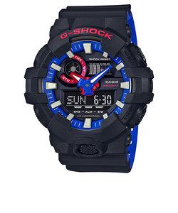 G-SHOCK 腕時計 トリコカラー レッド ブルー ブラック デジタル アナログ メンズ腕時計 GA-700LT-1AJF