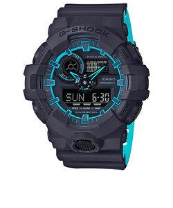G-SHOCK 腕時計 ブラックパープル ブルー系 デジタル 腕時計 メンズ ビッグケース バイカラー GA-700SE-1A2JF