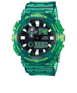 G-SHOCK 腕時計 グリーン スケルトン クリア アナログ デジタル 腕時計 G-LIDE ジーライド GAX-100MSA-3AJF