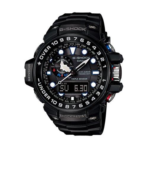 5f69d2465c ... Gショック G-SHOCK カシオ CASIO 耐衝撃 防水 腕時計 ガルフマスター ブラック トリプルセンサー ...