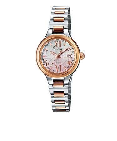 3dd9fbdb21 シーン SHEEN カシオ CASIO 腕時計 レディース ピンクゴールド シルバー SHW-1700SG-4AJF