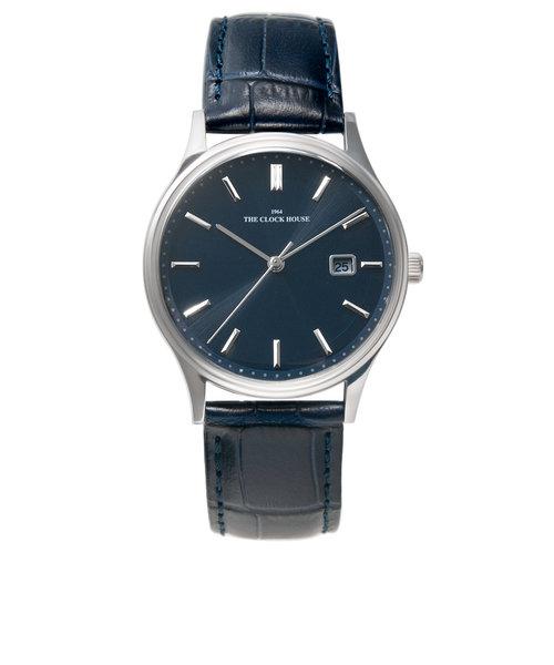 ザ・クロックハウス ソーラー 腕時計 就活 入学 就職 ギフト プレゼント ビジネス フォーマル MBF1007-NV1B