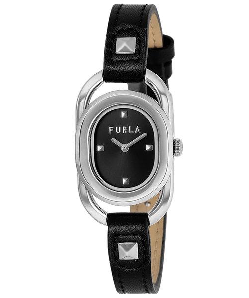 FURLA フルラ STUDS INDEX フルラスタッズインデックス FL-WW00008001L1 クオーツ 革ベルト ブラック