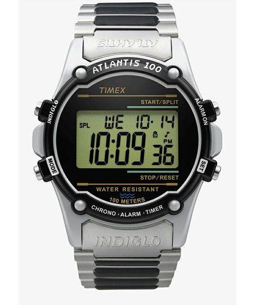 TIMEX タイメックス ATLANTIS アトランティス 100 TW2U31100 デジタル 電池式 メタルバンド シルバー