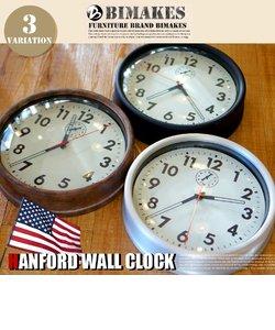 ハンフォードウォールクロック 掛け時計 BIMAKES ロウアルミ