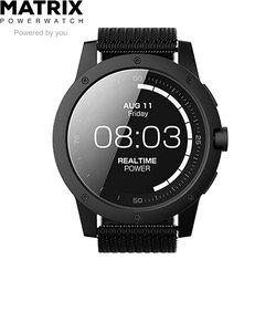 マトリックス パワーウォッチ ブラック [Matrix Power Watch Black Ops] PW03JP 充電不要 スマートウォッチ 体温で発電 睡眠 活動量計 消費カロリー 歩数計