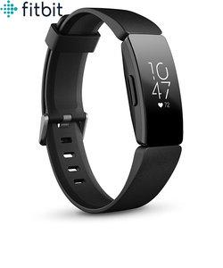 フィットビット [Fitbit] インスパイア HR [Inspire HR] FB413BKBK-FRCJK ブラック フィットネス トラッカー シンプル おしゃれ 心拍 カロリー 健康 睡眠 シェア 共有 親子 メンズ レディース