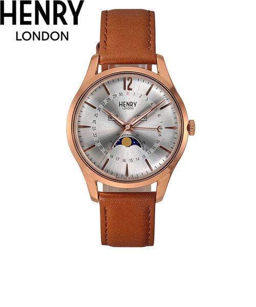 ヘンリーロンドン [HENRY LONDON] メリルボーン [MARYLEBONE] HL39-LS-0384 ムーンフェイズ 日付 曜日 39mm ペアウォッチ可 メンズ 腕時計 時計