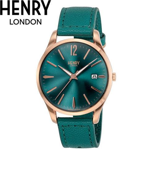 ヘンリーロンドン [HENRY LONDON] ストラトフォード [STRATFORD] HL39-S-0134 メンズ レディース 日付表示付き レザーバンド 腕時計 時計