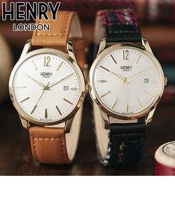 ヘンリーロンドン [HENRY LONDON] ヘリテージ・シグネチャー ハリスツイード コラボレーション HL39-S-0430 日本限定 付け替えベルト付 ベルト交換 日付 メンズ 腕時計 時計 おしゃれ