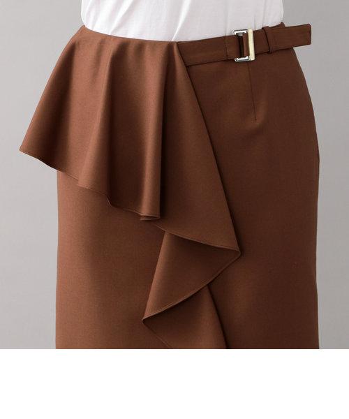 *CLASSY掲載*【LOVELESS】アシンメトリーフリルタイトスカート