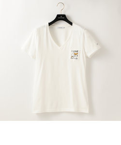 【SANDER STUDIO×GUILD PRIME】WOMENS DOG VネックポケTシャツ