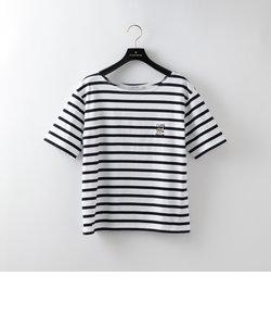 【SANDER STUDIO×GUILD PRIME】WOMENS ボートネックボーダーCAT Tシャツ