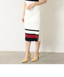 【LOVELESS】WOMEN トリコロール編地変化スカート