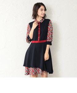 【LOVELESS】WOMEN マリンスカーフシャツカラードレス