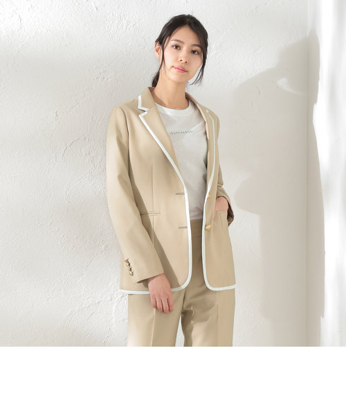 【LOVELESS×otona MUSE】WOMEN リネンライクパイピングジャケット