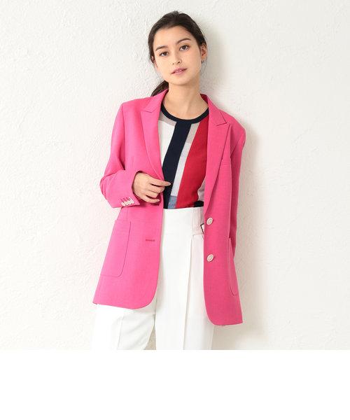 【LOVELESS】WOMEN リネンライクマゼンダロングジャケット